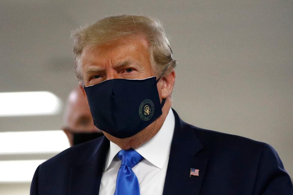 Finally, Trump Wears Face Mask In Public